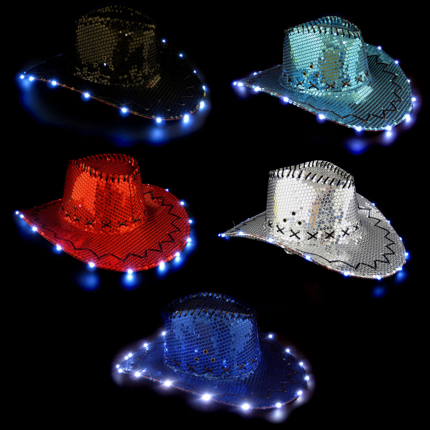 c8ccc6664 Light Up Sequin Cowboy Hat - 3 Function  Rebecca s Toys   Prizes