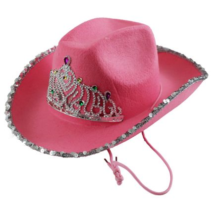 19efe1c81937c Pink Cowgirl Hat with Tiara  Rebecca s Toys   Prizes