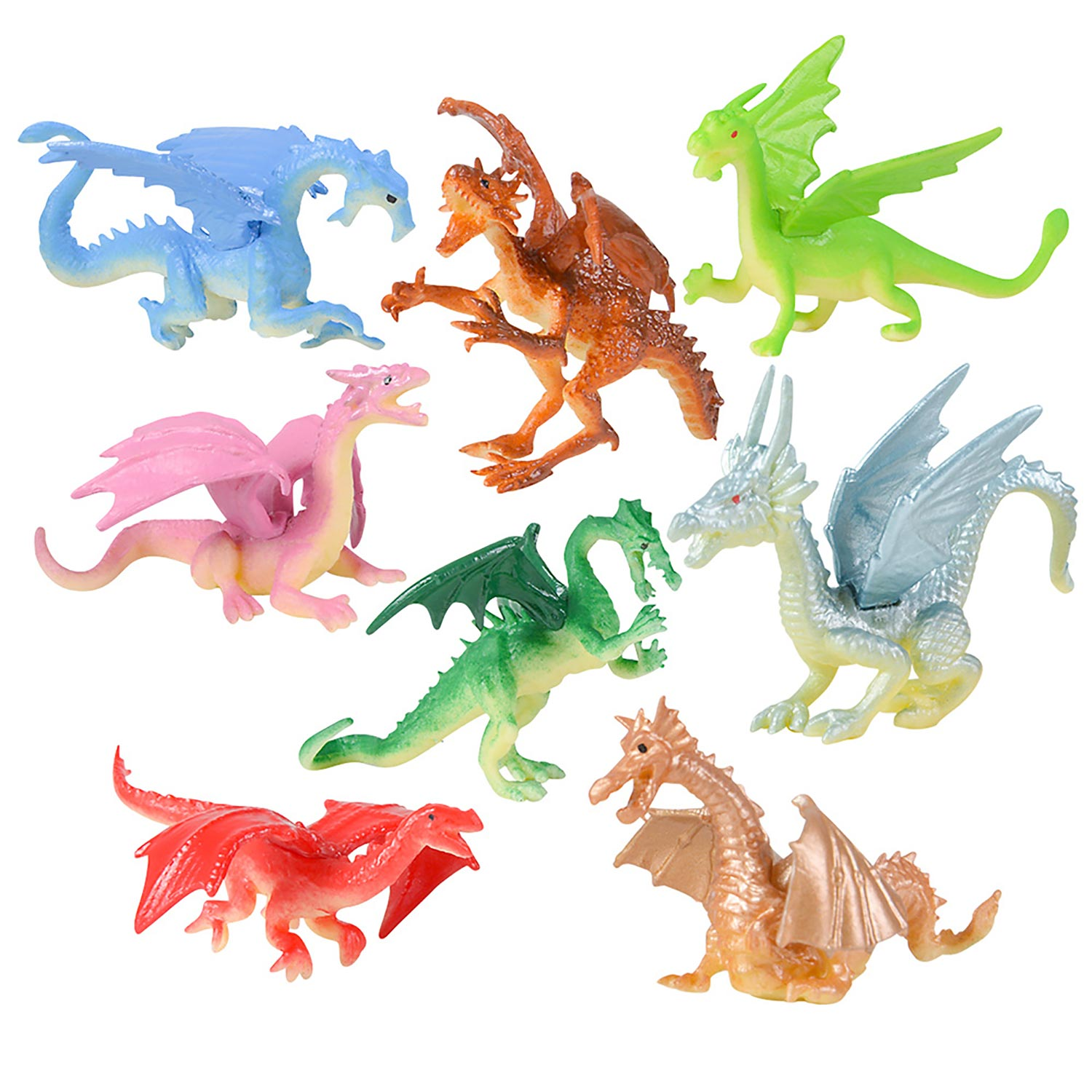 Plastic Dragons 2 Inch 12 Count Rebecca S Toys Amp Prizes