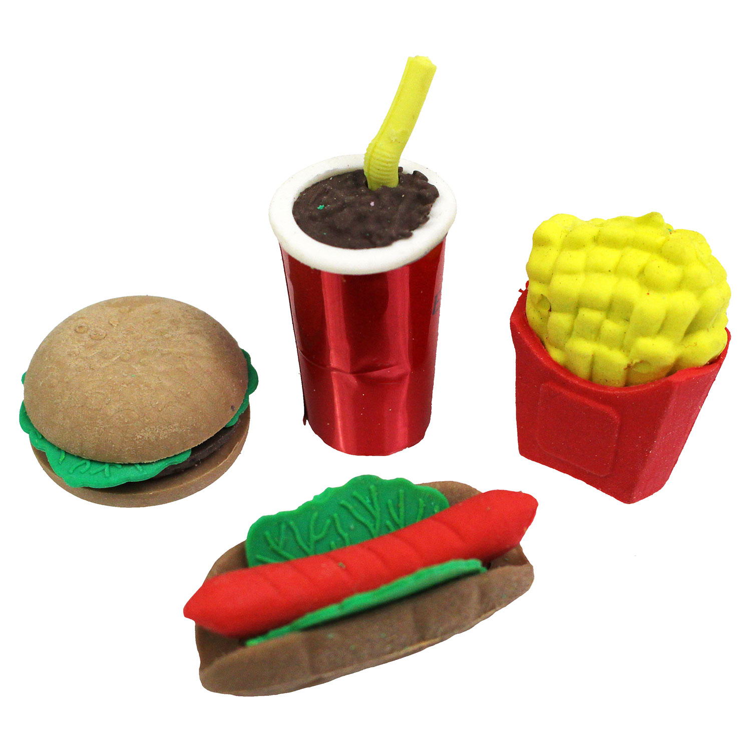 Junk Food Erasers 12 Count Rebecca S Toys Amp Prizes
